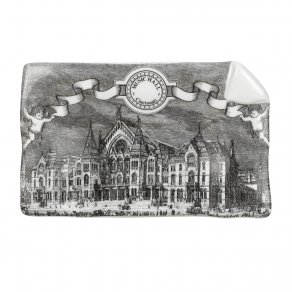 Fornasetti - Large sheet ashtray Cincinnati black/white - popelník