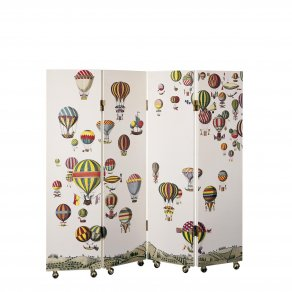 Fornasetti - Screen 140 x 135 h Palloni colour/white - paravan