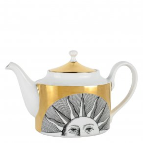 Fornasetti - Tea pot Soli black:white/gold - konvice