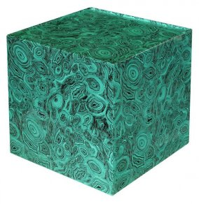 Fornasetti - Cube with drawer malachite green