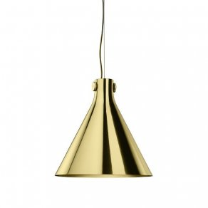 Ghidini 1961 - IndiPendant Cone - Richard Hutten - lamp - Polished brass