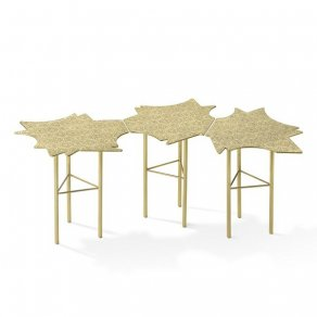 Ghidini 1961 - Ninfee - Coffee Side Table 3 - Alessandro Mendini - table - Satin brass