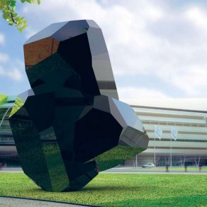 Arik Levy - 3D rendering of RockTripleFusion studies