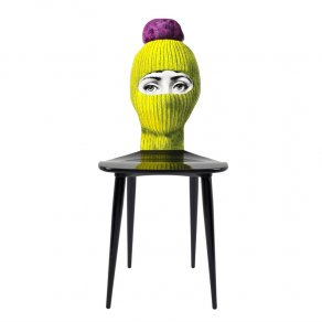 Fornasetti - Chair Lux Gstaad yellow/ponpon bright pink - židle