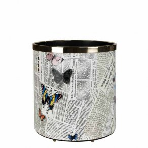 Fornasetti - Paper basket Ultime Notizie colour