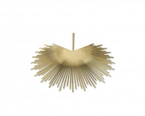 Ghidini 1961 - Palm Plate - Nika Zupanc - underplate - Brass polished