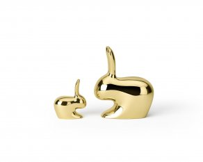 Ghidini 1961 - Rabbit - Stefano Giovanni - paperweight and door stopper - Brass polished