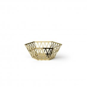 Ghidini 1961 - Tip Top Tray- Richard Hutten - bowl large - Brass polished