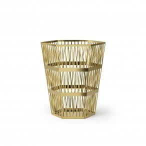 Ghidini 1961 - Tip Top Waste Bin - Рихард Гуттен — корзина small - Brass polished