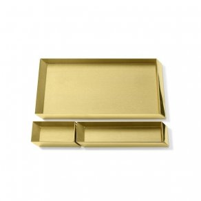 Ghidini 1961 - Axonometry Desk Trays set - Elisa Giovannoni - stolní tác - Brass polished