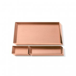 Ghidini 1961 - Axonometry Desk Trays set - Elisa Giovannoni - stolní tác - Rose gold