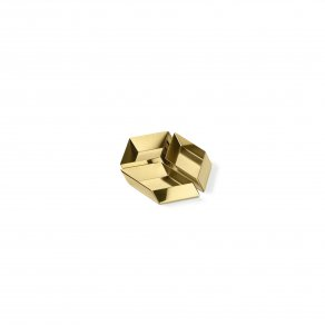 Ghidini 1961 - Axonometry - small cube - Elisa Giovannoni - mísa - Brass polished