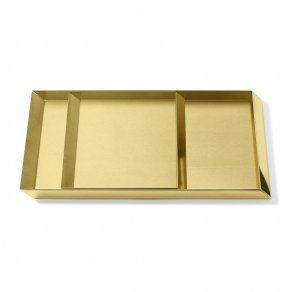Ghidini 1961 - Axonometry Trays set - Elisa Giovannoni - sada táců - Brass polished