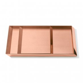 Ghidini 1961 - Axonometry Trays set - Elisa Giovannoni - sada táců - Rose gold